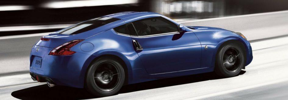 2019 Nissan 370Z speeding down freeway