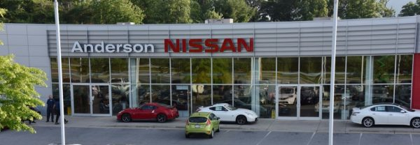 A photo of Fred Anderson Nissan of Asheville featured in a blog post about a Nissan dealership in Asheville, NC
