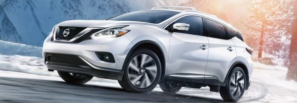 A 2019 Nissan Murano driving down a road