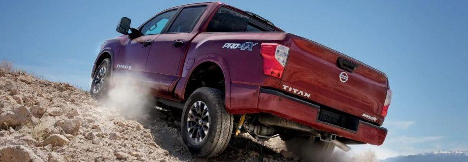 2019 Nissan Titan red truck